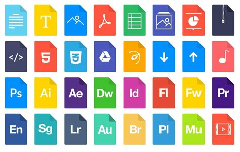 format file types 19 file extension icon set images icons file types