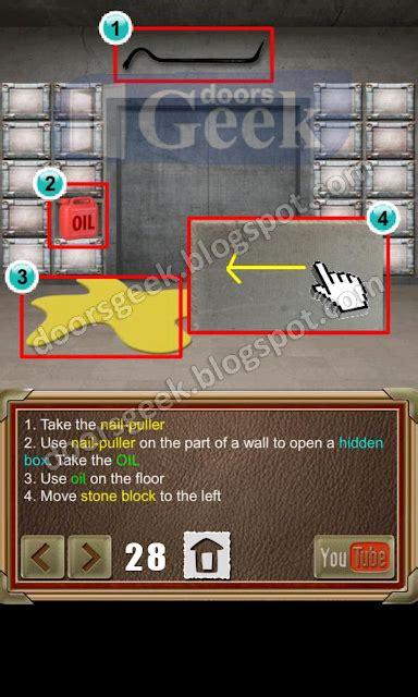 doors of revenge level 15 solution 100 doors of revenge level 28 doors geek