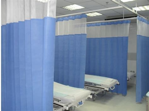 Hospital Cubicle Curtains China Color Hospital Disposable Curtain With Mesh China Cubicle Disposable Curtain