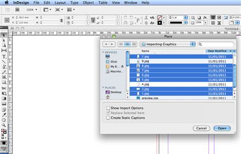 qt tutorial graphics quick tip importing multiple graphics using indesign cs5
