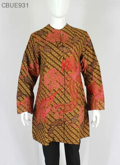 Tunik Atasan atasan wanita tunik batik blarak 9034 blus lengan panjang murah batikunik