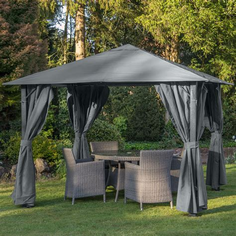 New Gazebo Provence 3m X 3m Gazebo Graphite My New Gazebo