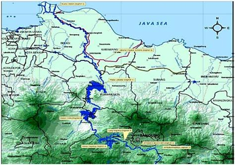 citarum river map the most polluted river in the world citarum river