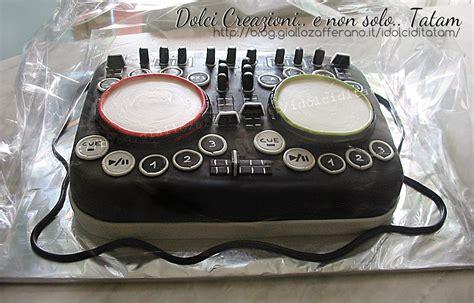 consol da dj torta decorata console dj cake design e pasta di zucchero