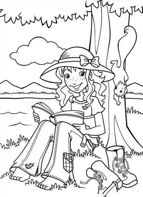 holly tree coloring page holly hobbie coloring pages coloring home