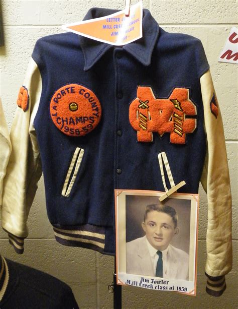 Donate Letter Jacket Many Donate Items To Museum In September What S New Laporte