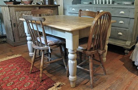 Farmhouse Kitchen Furniture Pine Farmhouse Kitchen Table By Distressed But Not Forsaken Notonthehighstreet