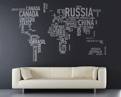 World Map Sticker For Wall stickers muraux carte du monde