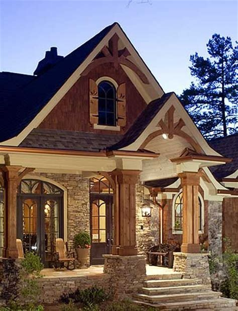 woods stones and house on