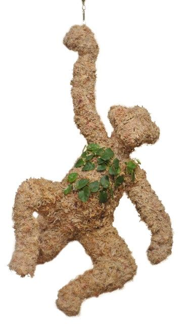 topiary monkey hanging monkey planted topiary farmhouse plants by