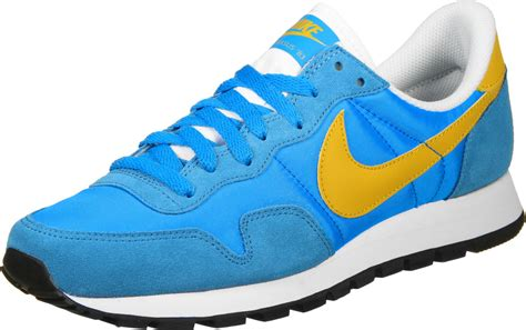 nike air pegasus 83 suede shoes blue yellow