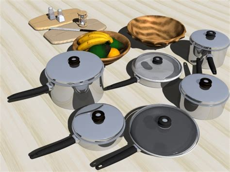 Kitchen Stuff by Kitchen Stuff 1 3d Model Sharecg