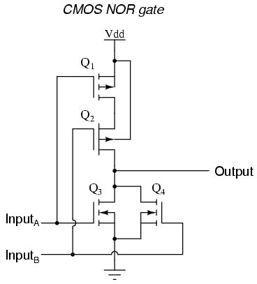 transistor nor gate cmos gate circuitry logic gates electronics textbook