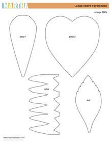 Paper Flower Templates Martha Stewart by Diy Crepe Paper Flower Tutorial Design Improvised