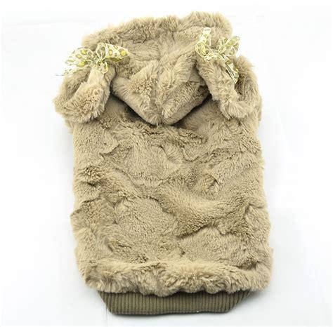 winter coats for dogs fashion supersoft plush winter coat apricot petsoo