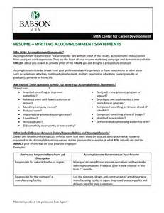 accomplishments on resume exles free resume templates