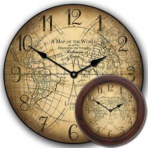 World Map Clock by World Map Clock In Many Sizes