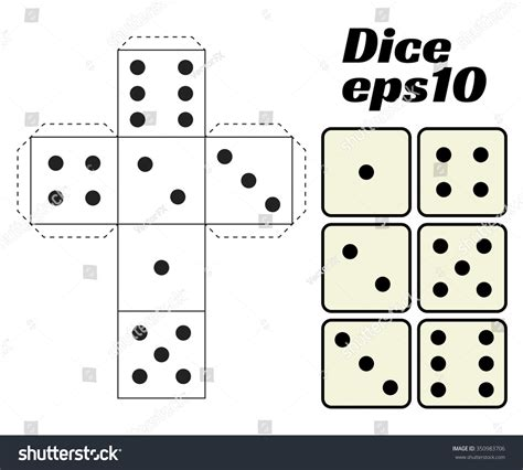 How To Make A Dice Out Of Paper - cut out paper dice pictures to pin on pinsdaddy