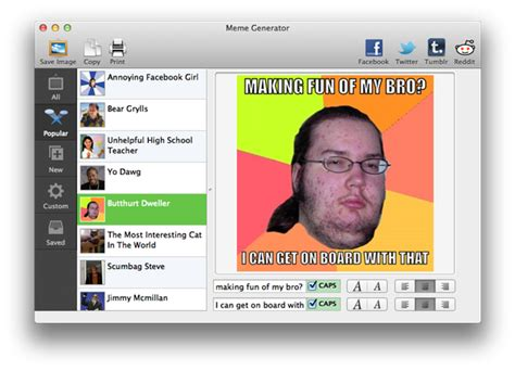 Create A Meme Generator - create an intertubes sensation with meme generator 171 mac