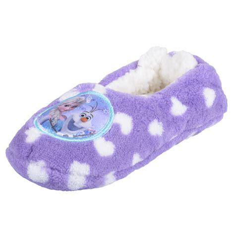 elsa slippers disney frozen lilac pink fleece slippers olaf elsa