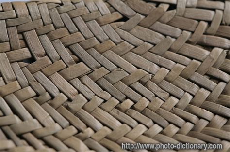Define Matted by Bamboo Mat Texture Photo Picture Definition At Photo