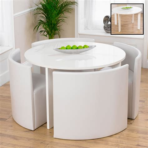 endearing white gloss dining table and chairs white high