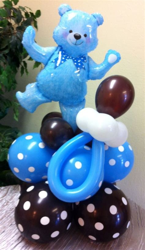 balloon pacifier for baby shower balloon teddy centerpiece with pacifier globos