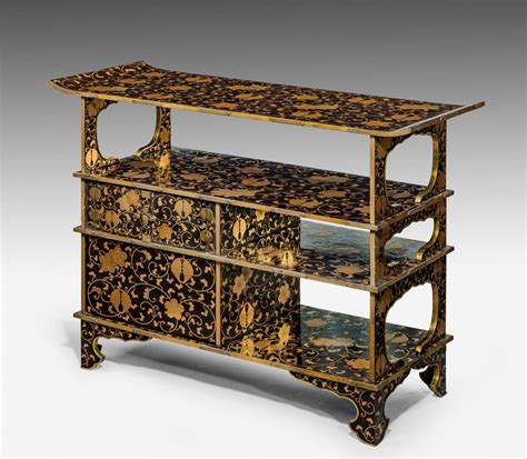 japanese black lacquer cabinet japanese black lacquer and gilt zushi cabinet bada
