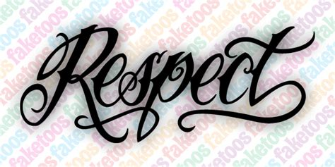 respect tattoos script respect