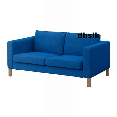 ikea karlstad sofa cover ikea karlstad 2 seat loveseat sofa slipcover cover korndal medium blue