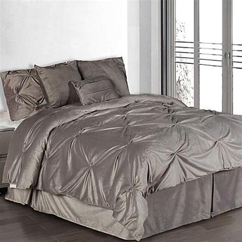 pintuck comforter set pintuck plush comforter set bed bath beyond
