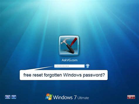windows reset password free reset forgotten windows password for free