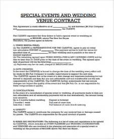Sle Event Planner Contract by Sle Contract Agreement 10 Exles In Pdf Word