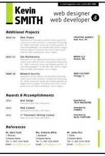 Resume Web Templates by Web Designer Resume Template Trendy Resumes