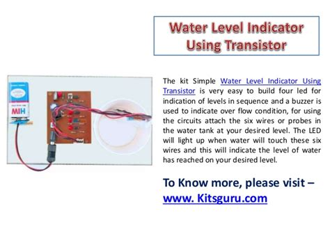use of transistor bc548 in water level indicator use of transistor bc548 in water level indicator 28 images water level indicator with alarm