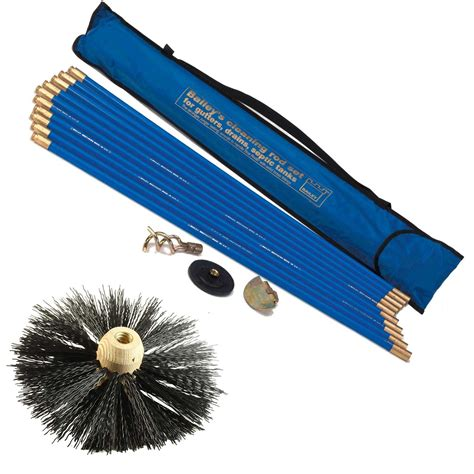 Chimney Flue Cleaning Kit - bailey drain rod and chimney flue cleaning set in carry