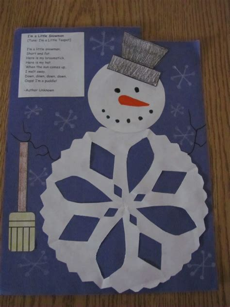 Paper Winter Crafts - lil country librarian winter ideas part 1