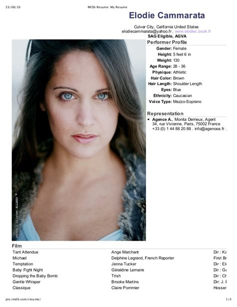 Imdb Resume by Imdb Resume My Resume