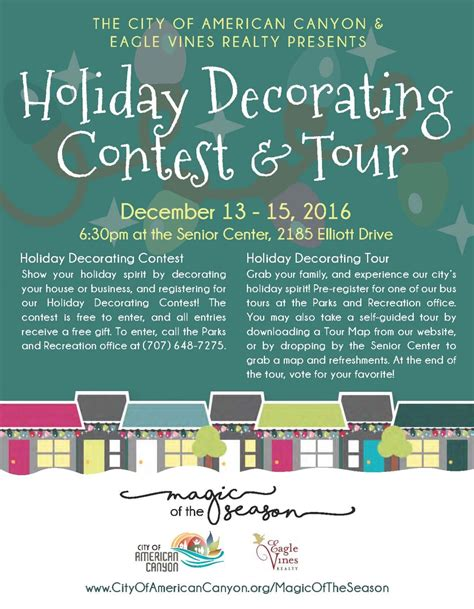 decorating rules holiday decorating contest tour napa valley kid