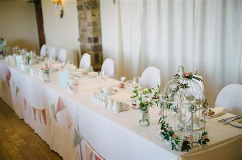 top table ideas bunting birdcages and simons wedding