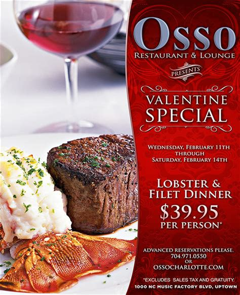 valentines dinner specials osso s s day dinner special charlottehappening
