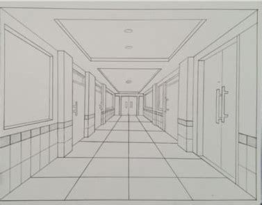 tutorial menggambar perspektif 1 titik lenyap seni itu indah gambar perspektif