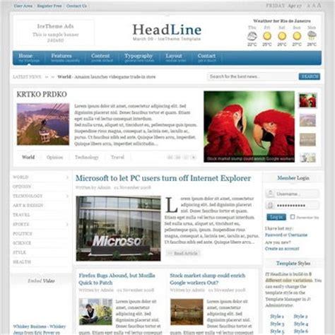 joomla theme ice icetheme it headline joomla downloads