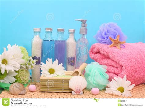bath and shower products stock image image of towel tropical 2190171