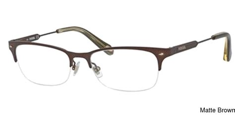 buy fossil 6078 semi rimless half frame prescription