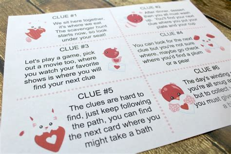 riddles for valentines day s day scavenger hunt for with printable clues