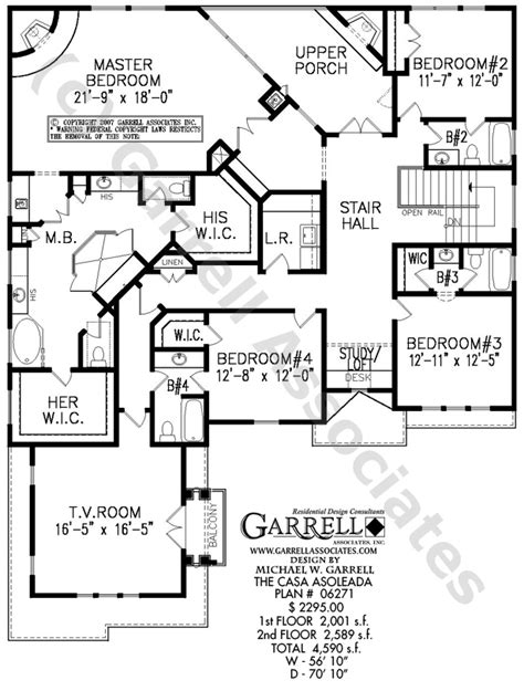 master up floor plans casa asoleada house plan costa plans