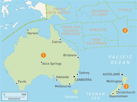 map of countries in australia map of countries around australia world maps