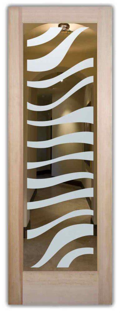 zebra interior doors  glass etching african decor