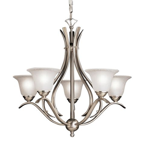 kichler lighting 2020 5 light dover chandelier atg stores